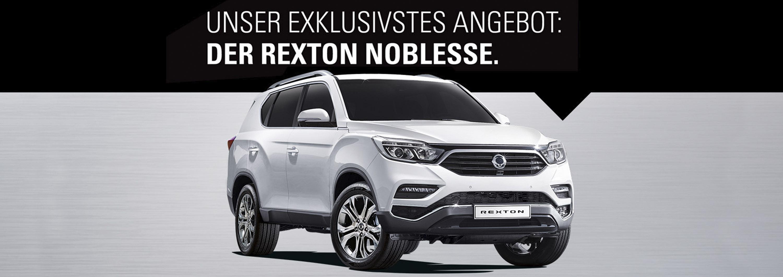 Der Rexton Noblesse öffnet Ihnen jetzt die Türen zu einer neuen automobilen Klasse