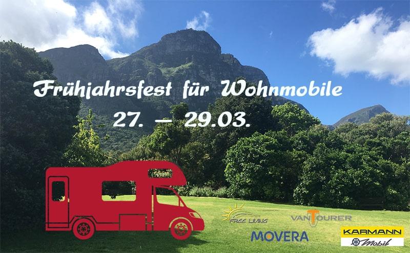 Frühjahrsfest für Wohnmobile im März.